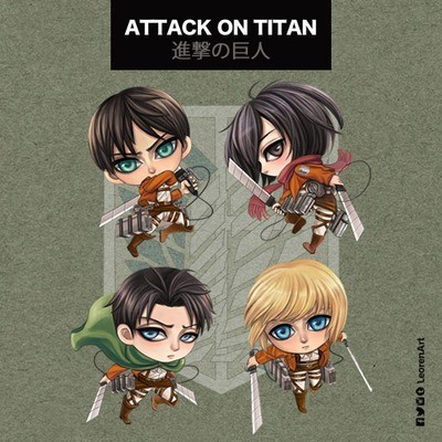 Attack on Titan / Shingeki no Kyojin Keychain Charm