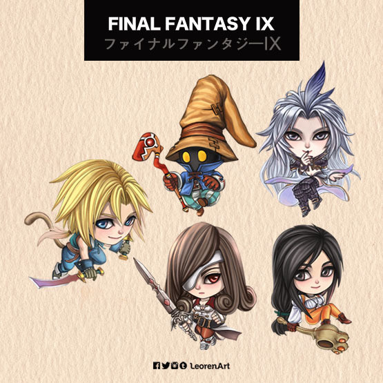 Final Fantasy IX Keychain Charm