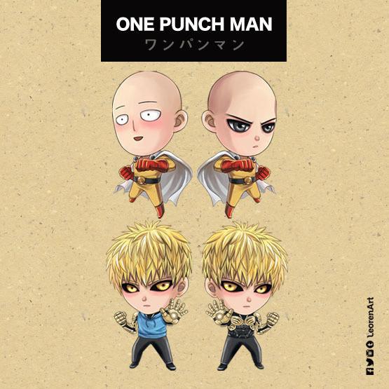 One Punch Man Keychain Charm