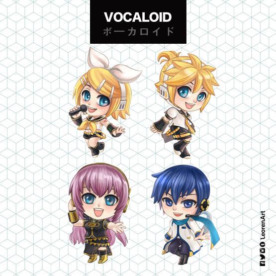 Vocaloid Keychain Charm