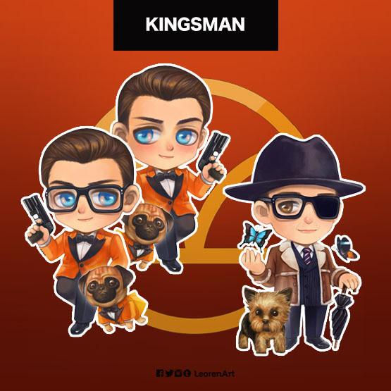 Kingsman Keychain Charm