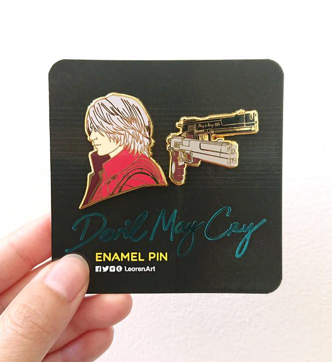 Devil May Cry - Dante feat. Ebony & Ivory - Hard Enamel Pin