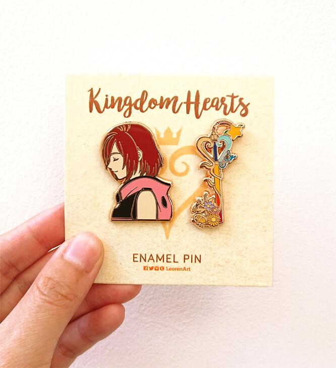 Kingdom Hearts - Kairi + Keyblade - Hard enamel pin