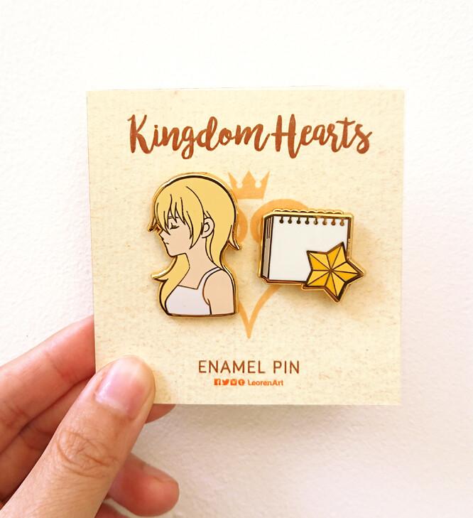 Kingdom Hearts - Namine + Sketchbook - Hard enamel pin