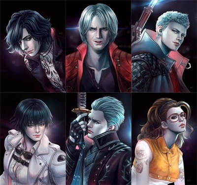 Devil May Cry Print - Nero, Dante, V, Vergil, Lady, Nico