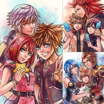 Kingdom Hearts Trio print