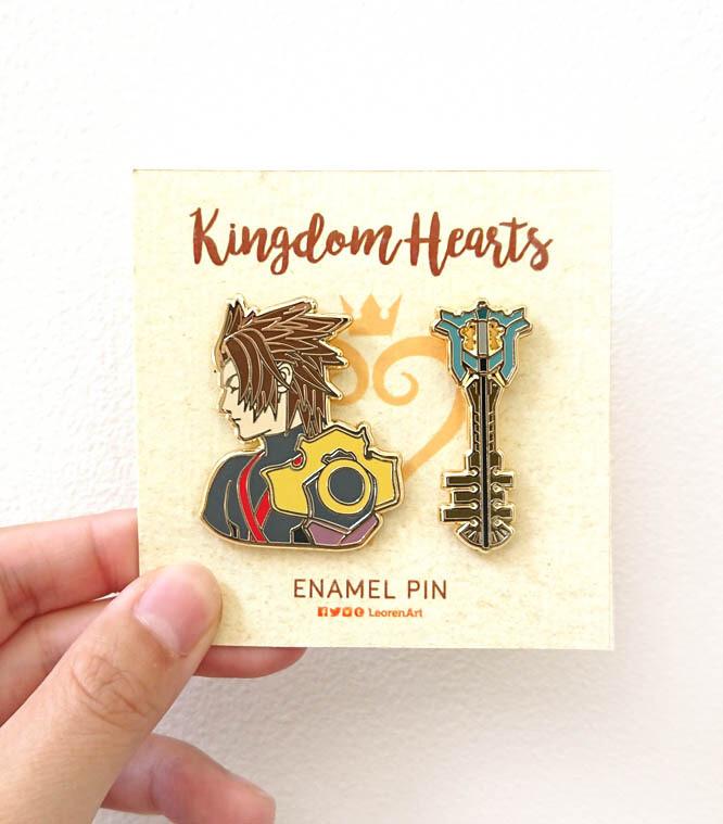 Kingdom Hearts - Terra + Keyblade - Hard enamel pin