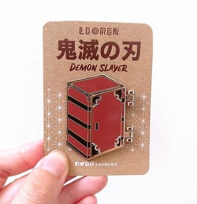 Kimetsu no Yaiba / Demon Slayer - Nezuko Box - Hard Enamel Pin