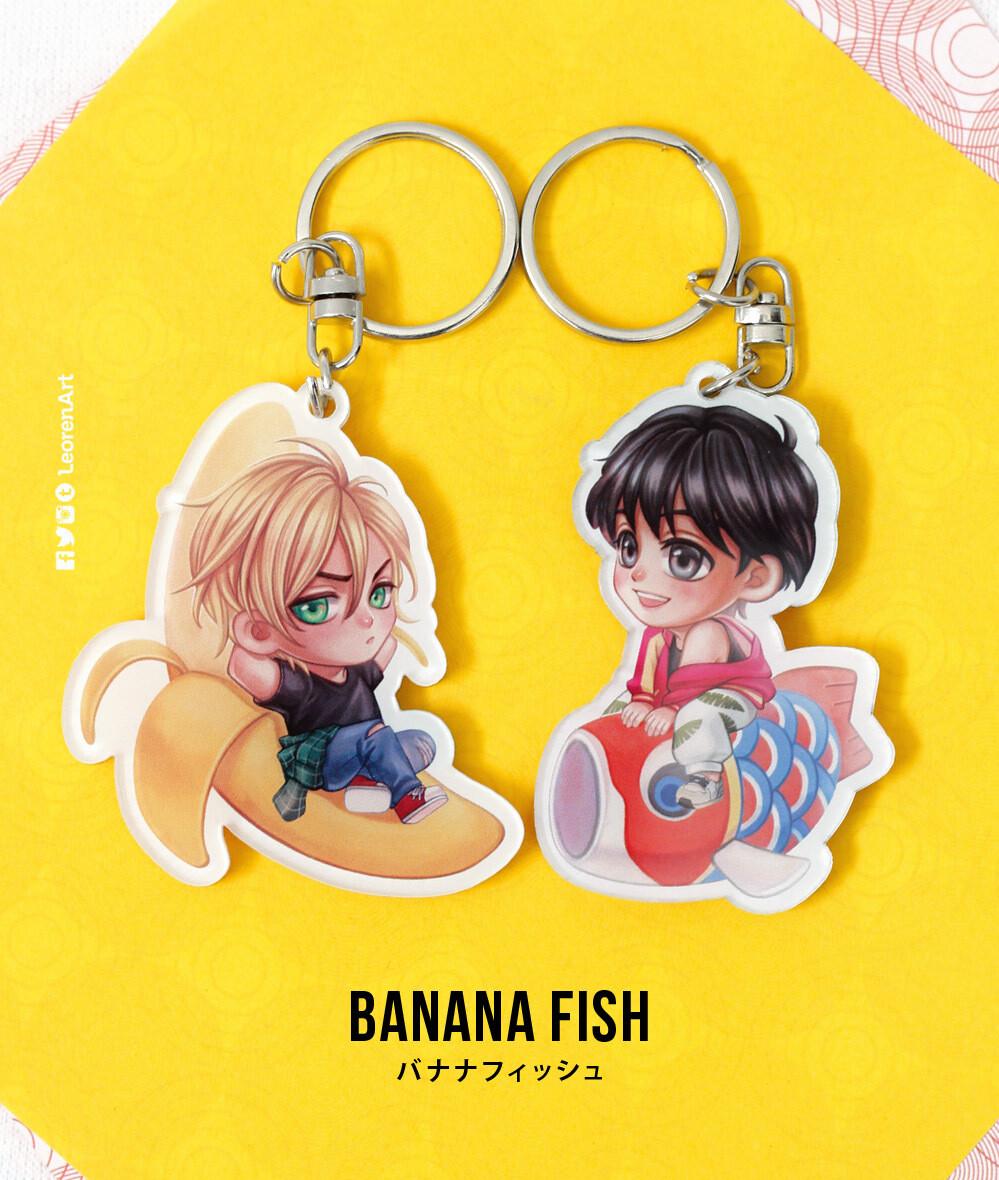 Banana Fish - Keychain Charm & Sticker