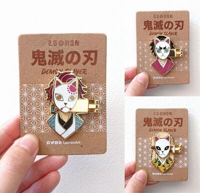 Kimetsu no Yaiba / Demon Slayer - Water Disciple - Tanjiro Giyuu Sabito - Hard Enamel Pin