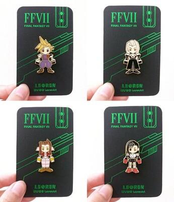 Final Fantasy VII Remake / FF7R - Polygon Hard Enamel Pin