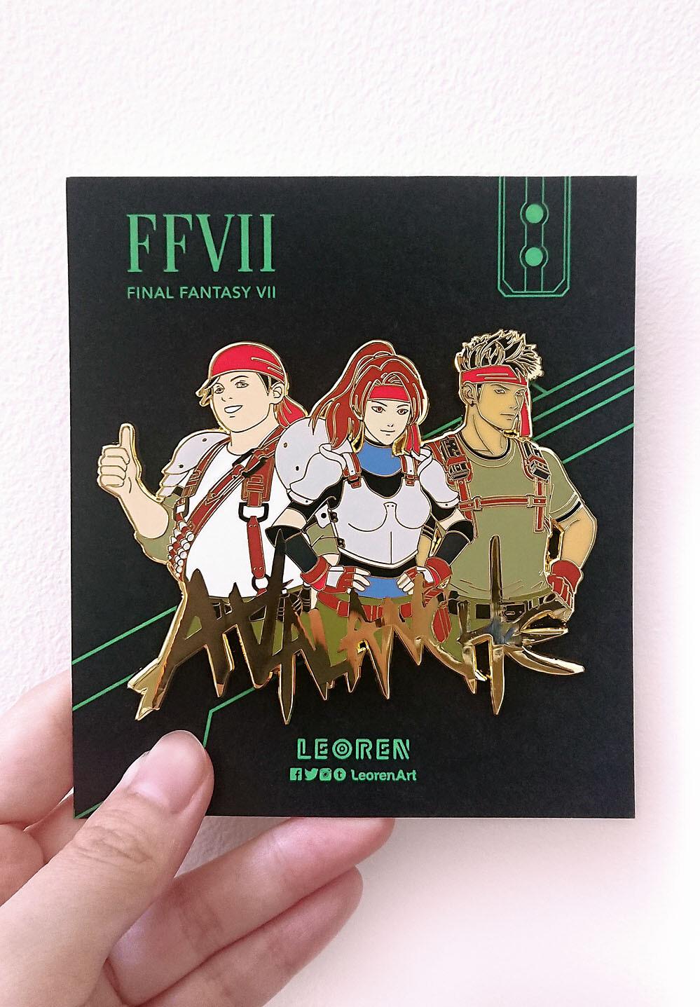 Final Fantasy VII Remake / FF7R - AVALANCHE - BIG / JUMBO - Hard Enamel Pin