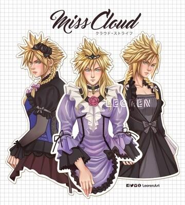 Final Fantasy VII Remake / FF7R - Honeybee Miss Cloud Strife - big sticker