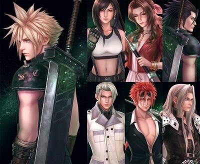 Final Fantasy VII Remake / FF7R - art print / poster