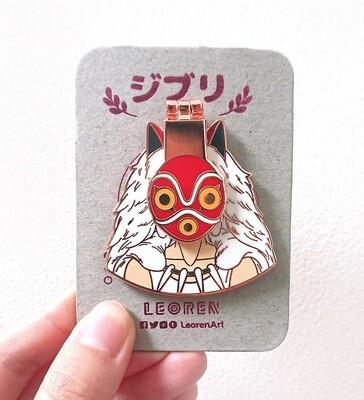 Ghibli - Princess Mononoke - Masked San - Hard Enamel Pin