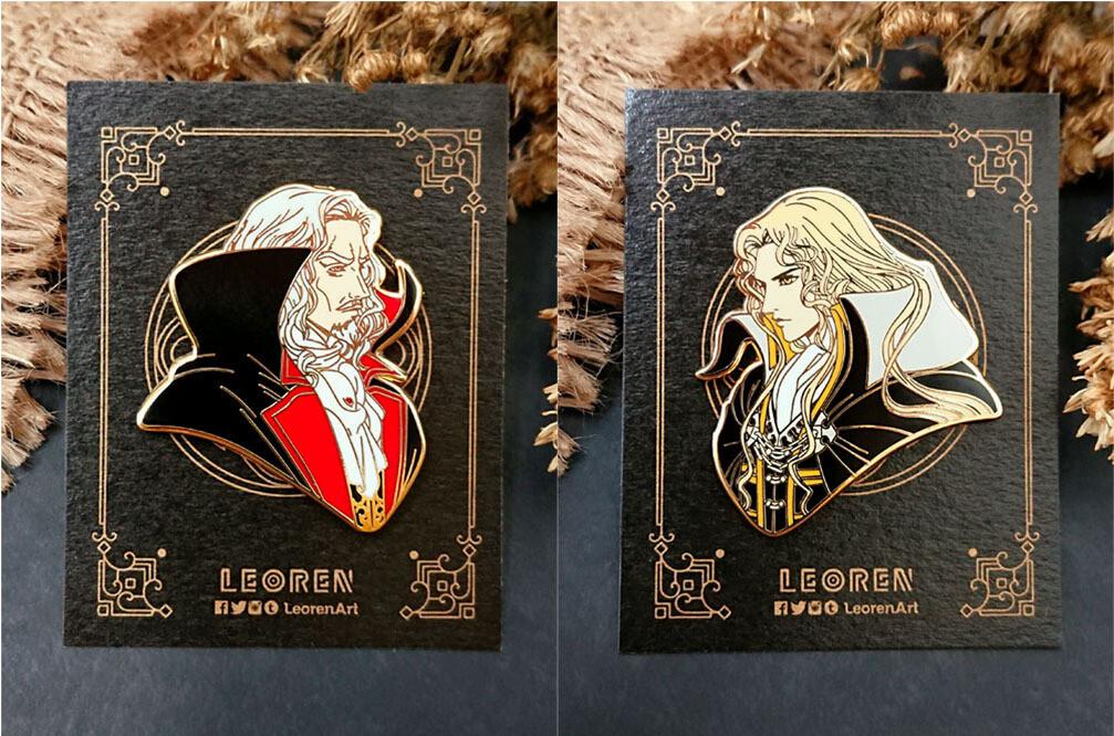 Castlevania - Dracula x Alucard - Hard Enamel Pin