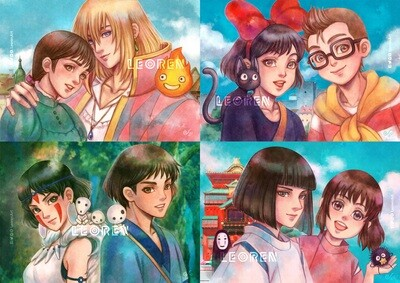 Studio Ghibli - art print / poster