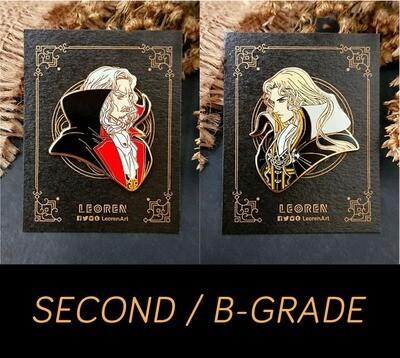 SECONDS / B-GRADE sale - CASTLEVANIA - Alucard x Dracula - hard enamel pin
