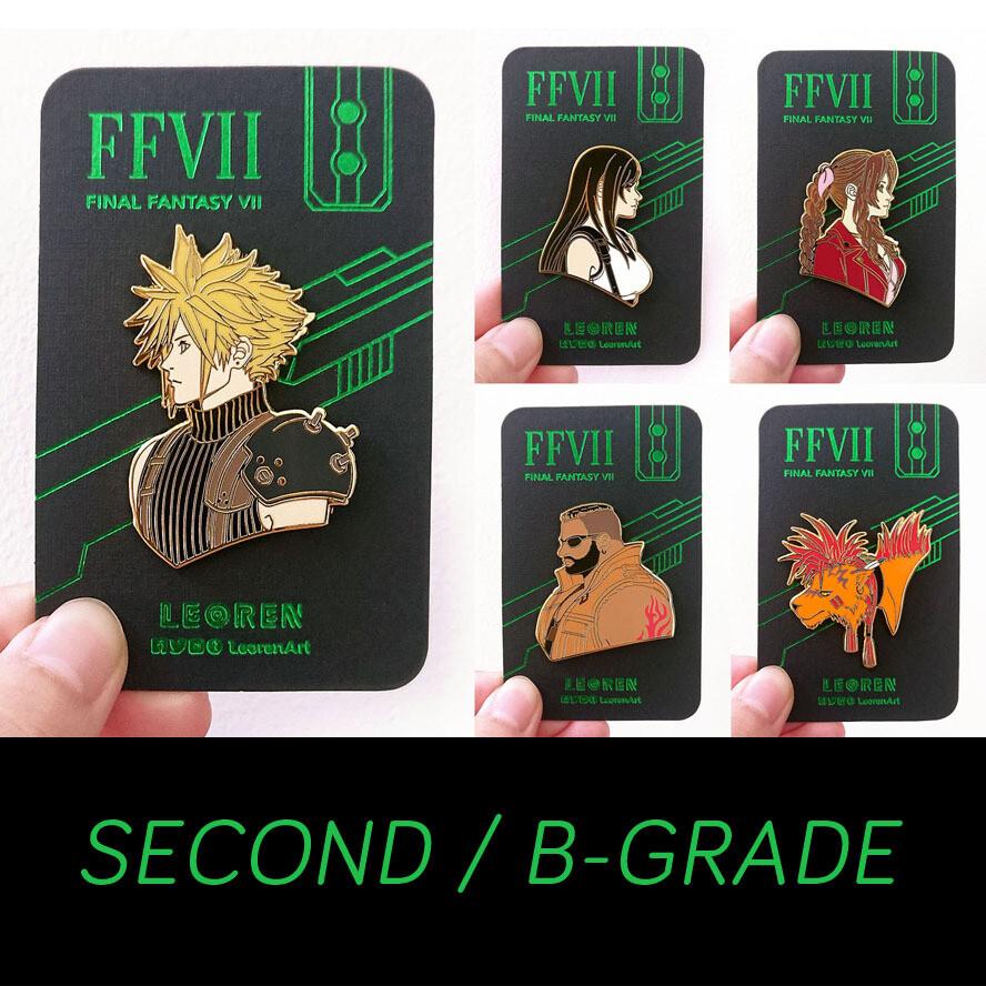 SECONDS / B-GRADE sale - FF7R - hard enamel pin
