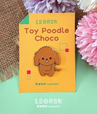 Toy Poodle Choco - Hard Enamel Pin
