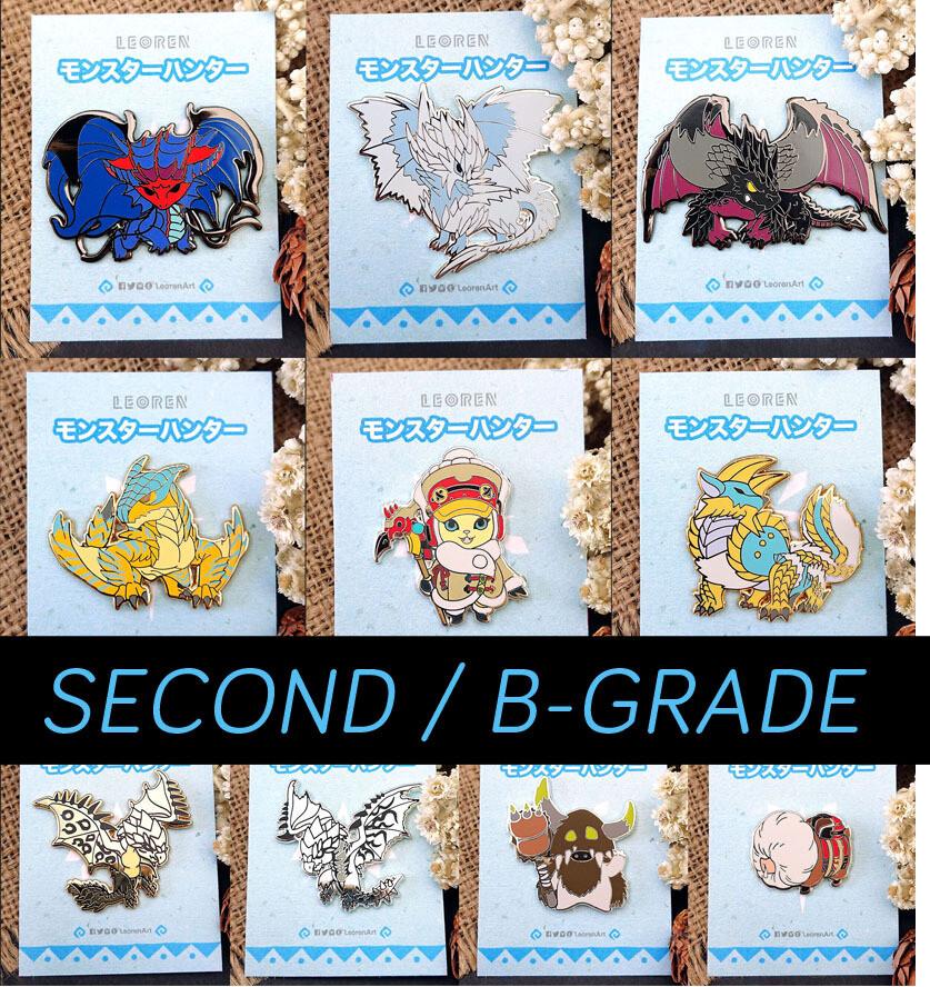 SECONDS / B-GRADE sale - Monster Hunter Iceborne - Hard Enamel Pin