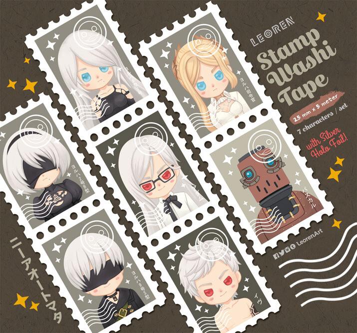NieR Automata - stamp washi tape