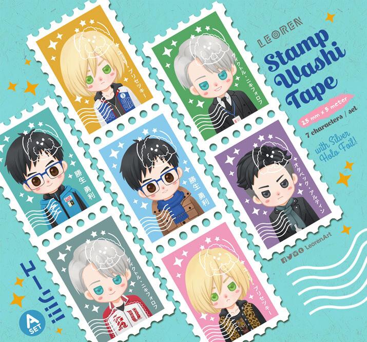 Yuri on Ice - stamp washi tape