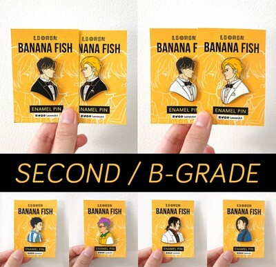 SECONDS / B-GRADE sale - Banana Fish second wave - hard enamel pin
