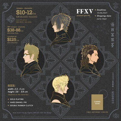 Final Fantasy XV / FFXV - Hard Enamel Pin