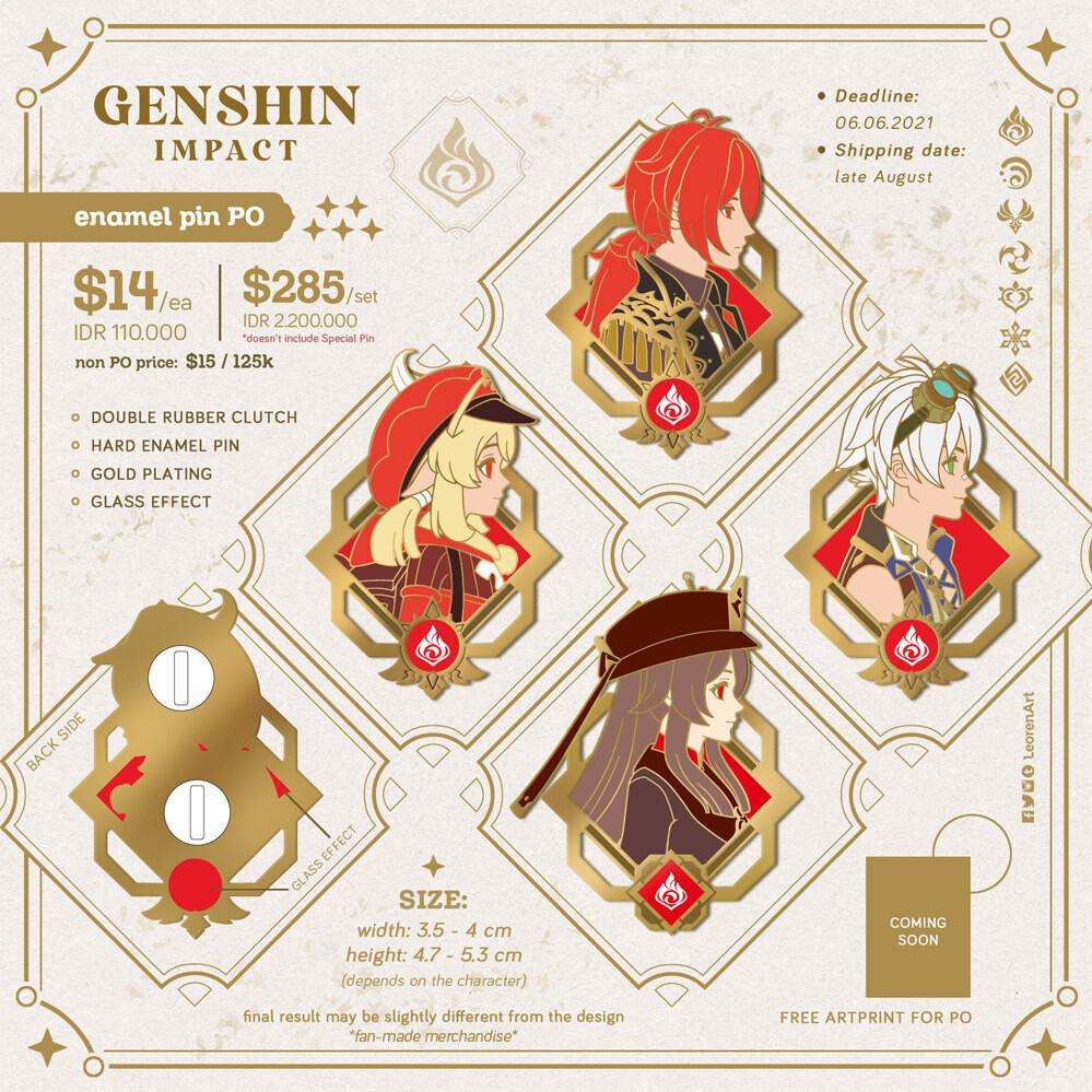 Genshin Impact - Hard Enamel Pin