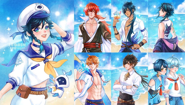 Genshin Impact - Summer & Windblume - art print / poster