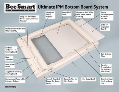10- Frame Bee Smart Ultimate Bottom Board System BS-UBBS