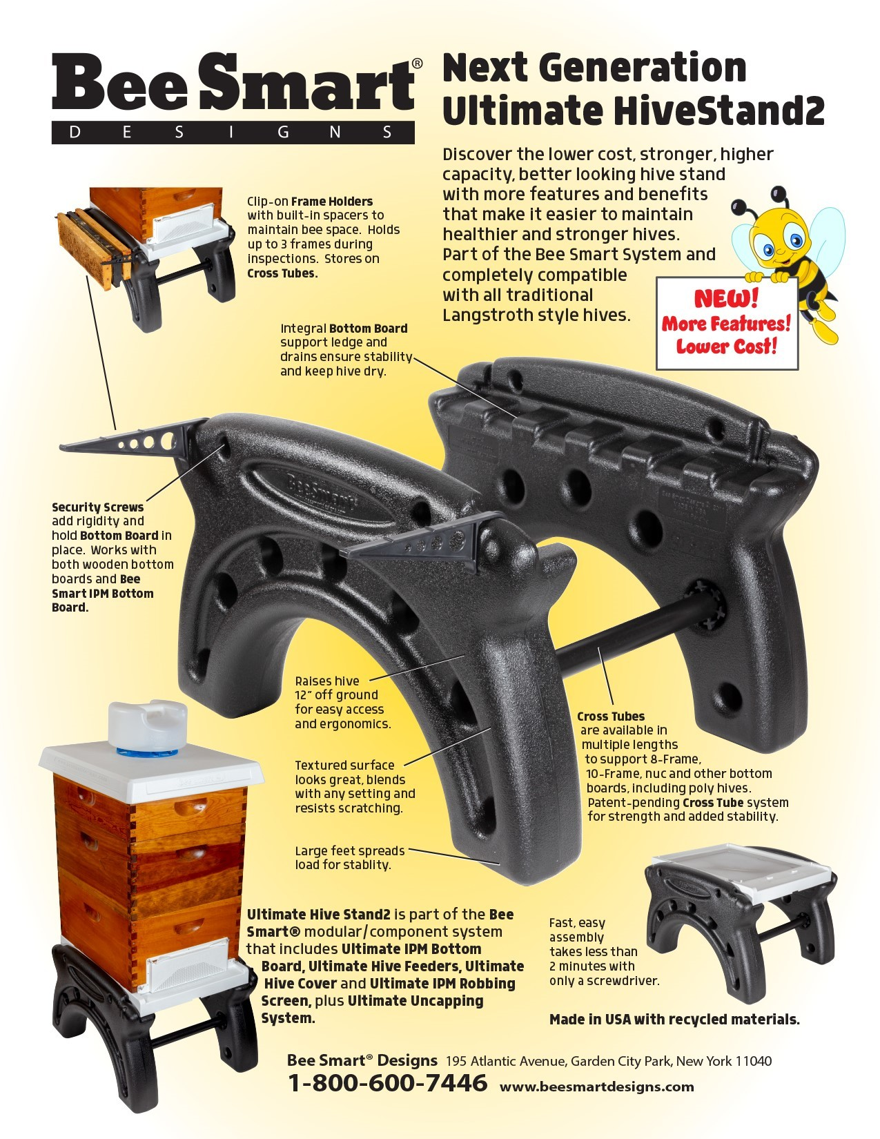 Bee Smart Ultimate Hive Stand w/ Frame Rest 8-frame