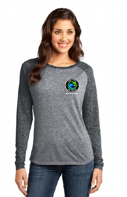 BGG Logo Raglan Burnout Long Sleeve T-Shirt | Women's GREY