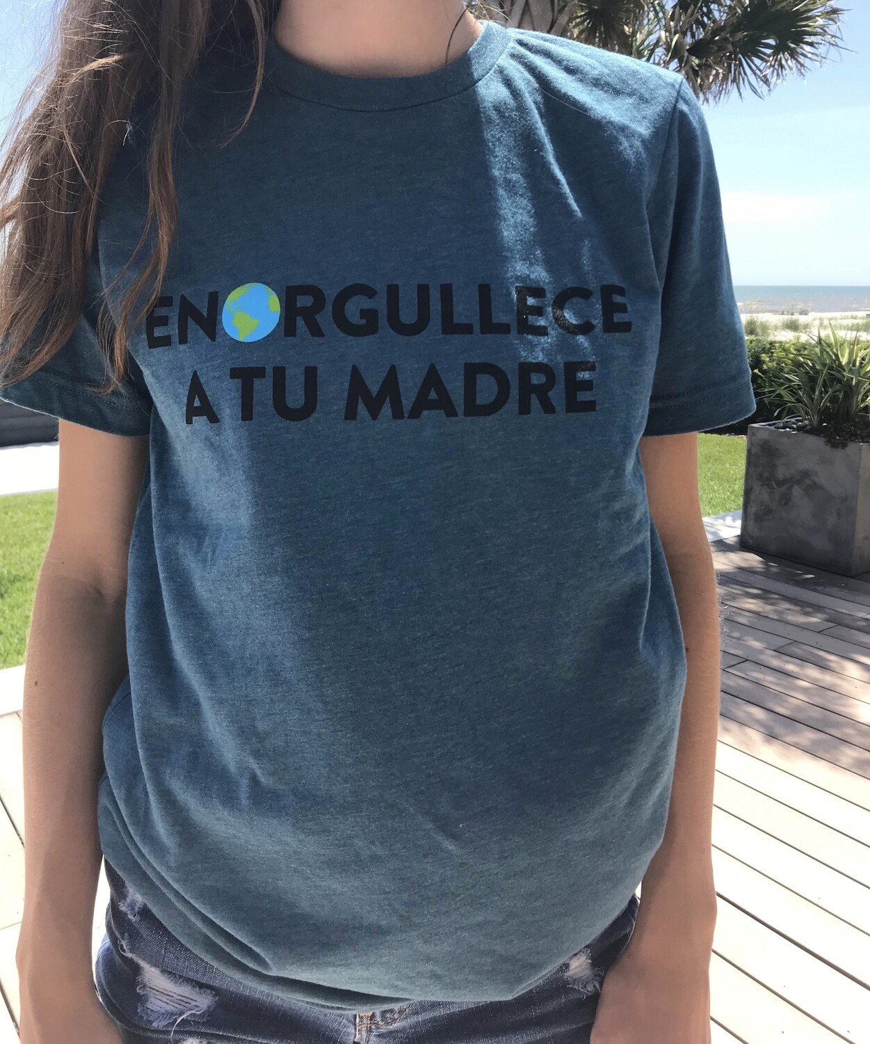 Make Your Mother Proud (front) Be the Change (back) Spanish Unisex T-Shirt