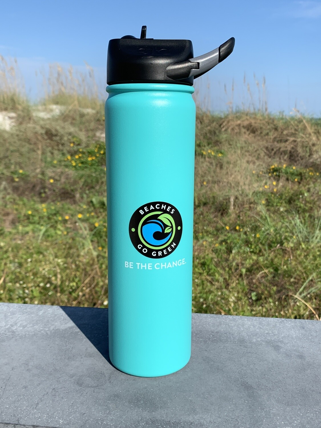 SIC Cup 27oz Tumbler w pop-up straw - SEA FOAM