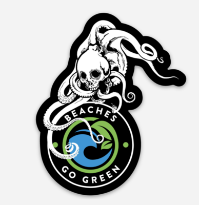 Skull Octopus Sticker