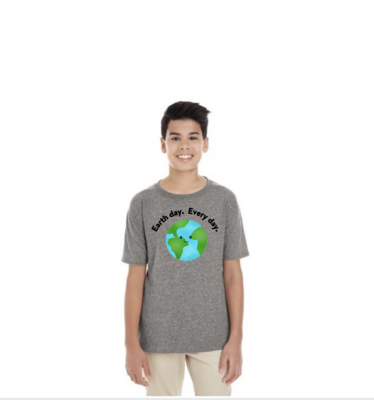 EARTH DAY. EVERY DAY. YOUTH T-SHIRT