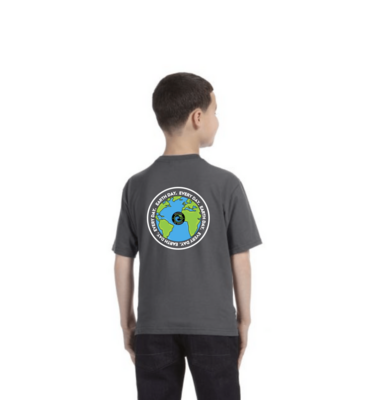 EARTH DAY. EVERY DAY. BACK LOGO YOUTH T-SHIRT