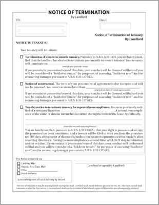 30-Day Notice of Termination - FREE