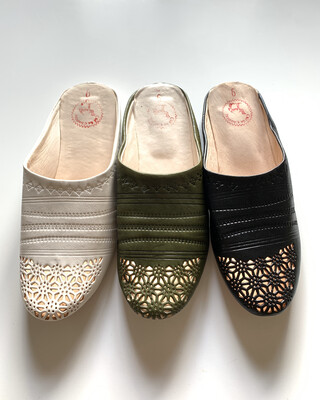 From Morocco / Babouche (Delivery Only in Japan)/ Noir, Blanc, Kaki