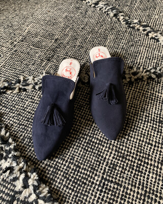 From Morocco / Babouche Navy (Delivery only in Japan)