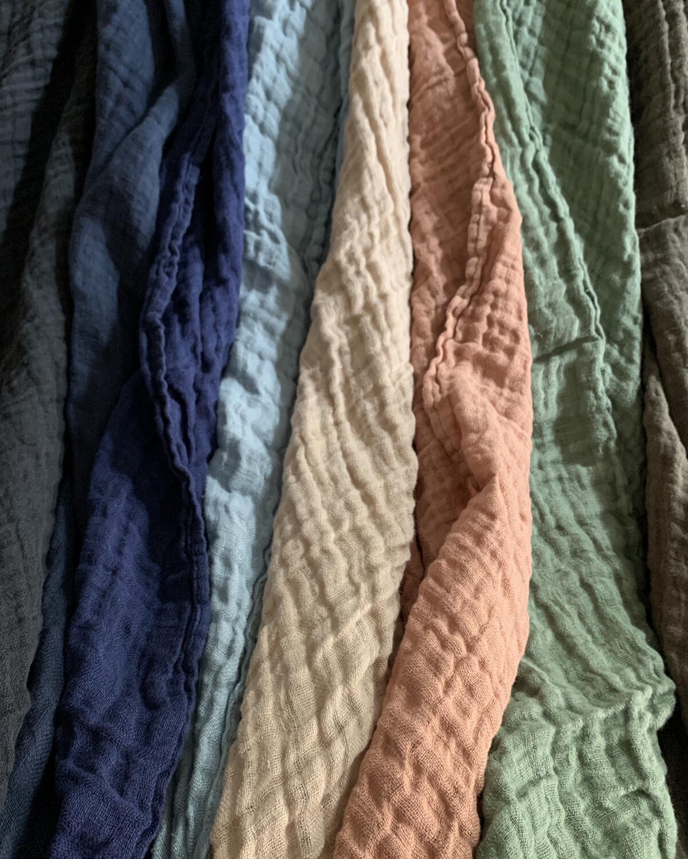 Washed Linen Stole 180x60cm