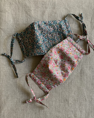 C/P  Liberty Cotton Mask with Adjustable Cloth Straps
