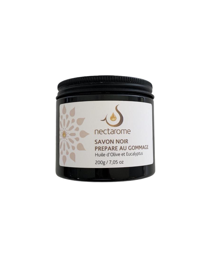 Nectarome / Savon Noir avec Huile d'Olive & Eucalyptus 天然ブラックソープ(オリーブ&ユーカリ精油入り)