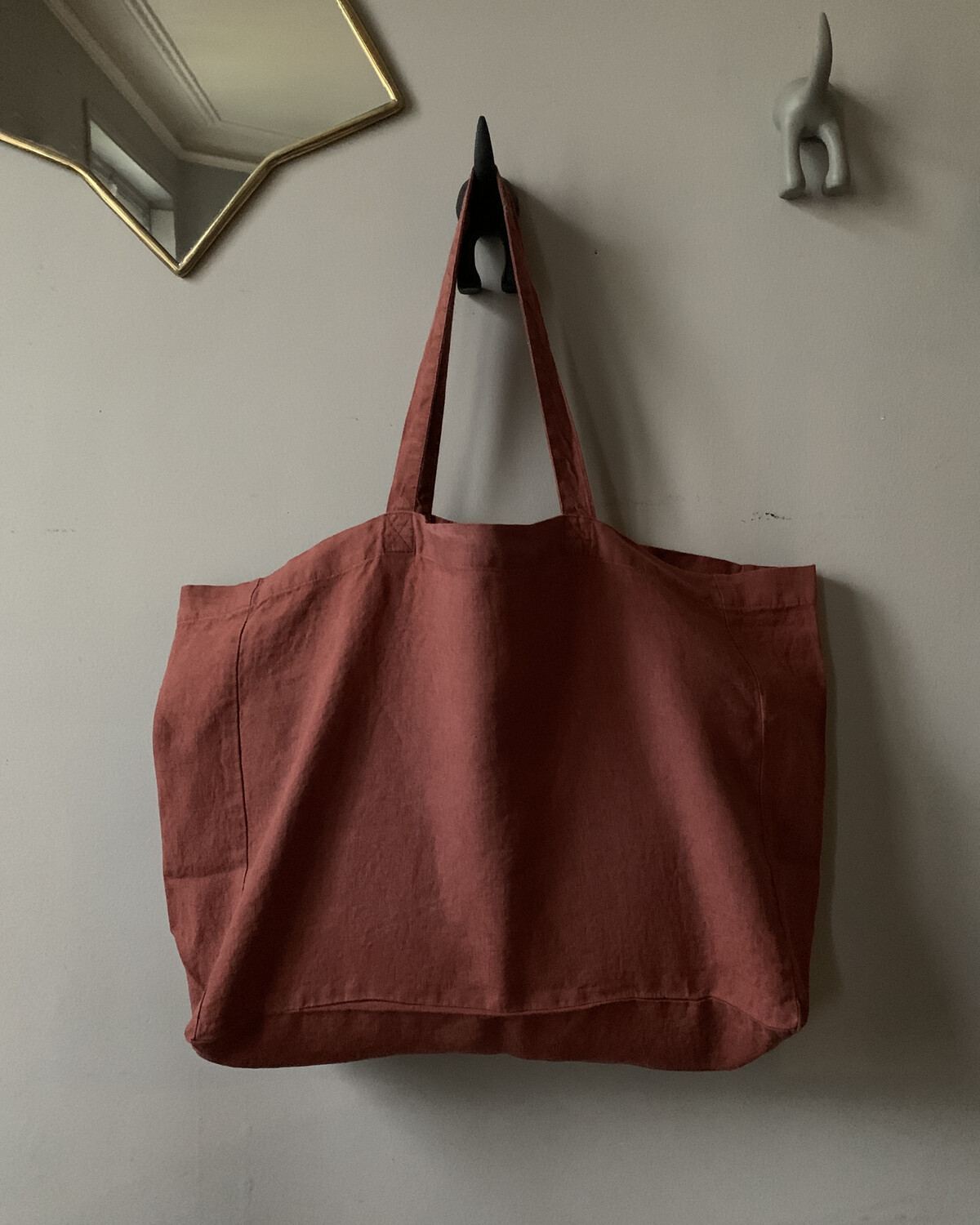 Washed Linen Sac Médium