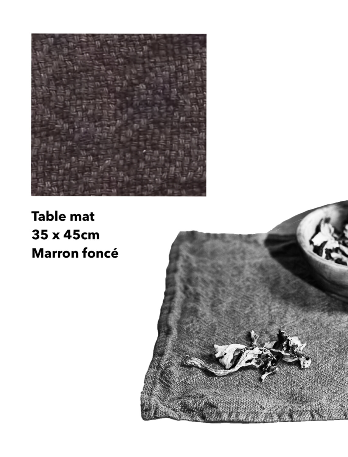 Washed Linen Table mat / Heavy (Coming soon)