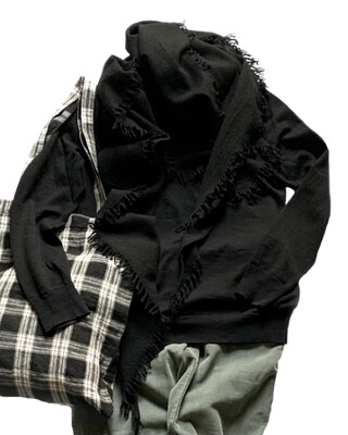 BLUi / Wool Cashmere Stole, Triangle