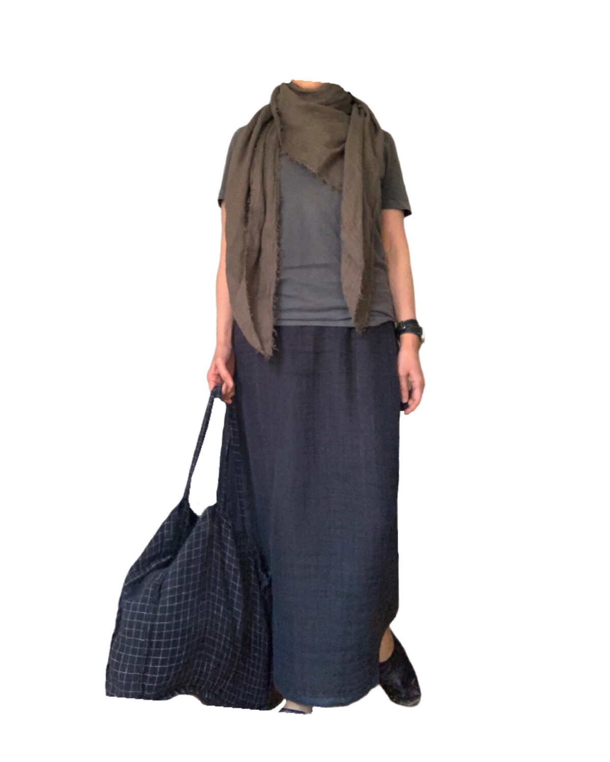 Washed Linen Skirt (3 size) / プレオーダー