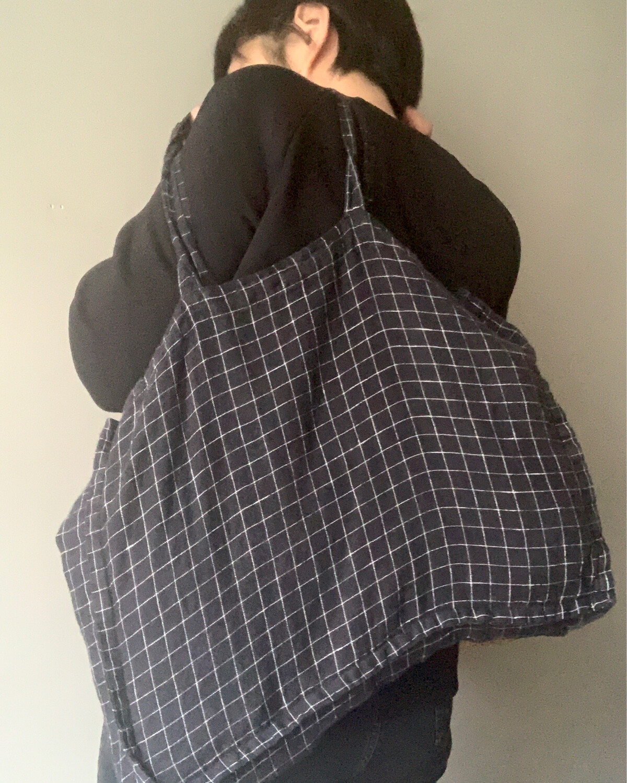 Washed Linen Bag / Medium Plus